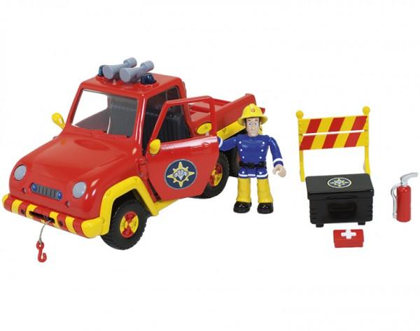 Машина с фигуркой Fireman Sam 9251054 Пожарный Сэм со светом и водой - 19 см (Dickie)