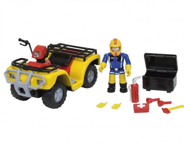 Квадроцикл с фигуркой Fireman Sam 9251058 Пожарный Сэм со светом (Dickie)