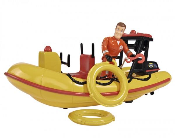 Лодка спасателей с фигуркой Fireman Sam 9251660 Пожарный Сэм - 20 см (Dickie)