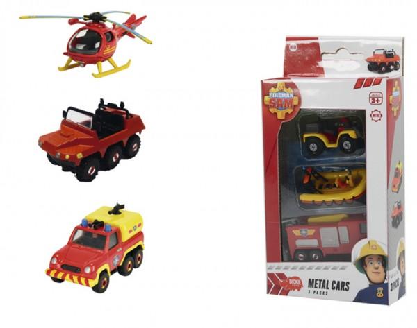 Игровой набор из 3 игрушек Fireman Sam 3099629 Пожарный Сэм Дополнительное средство передвижения (Dickie)
