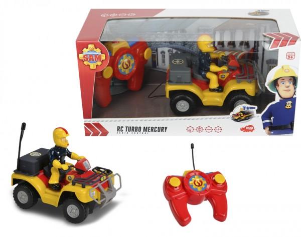 Купить Радиоуправляемый квадроцикл с фигуркой Fireman Sam Пожарный Сэм 1:24 (Dickie) в интернет магазине игрушек и детских товаров