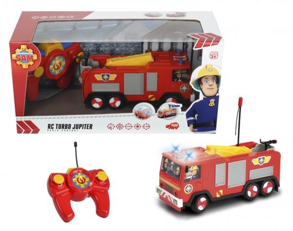 Купить Радиоуправляемая машина с фигуркой Fireman Sam Пожарный Сэм 1:24 (Dickie) в интернет магазине игрушек и детских товаров