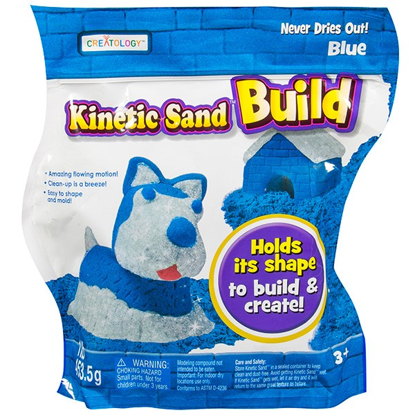 Песок для лепки Kinetic Sand Build - 2 цвета (454 грамм)