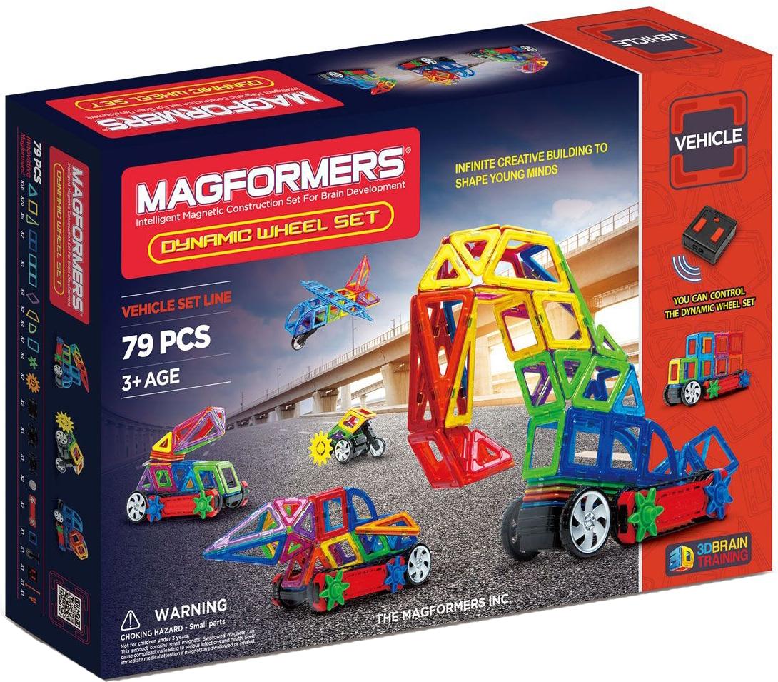 Конструктор Magformers 707005 (63116) Dinamic Wheel Set с пультом управления (79 деталей)