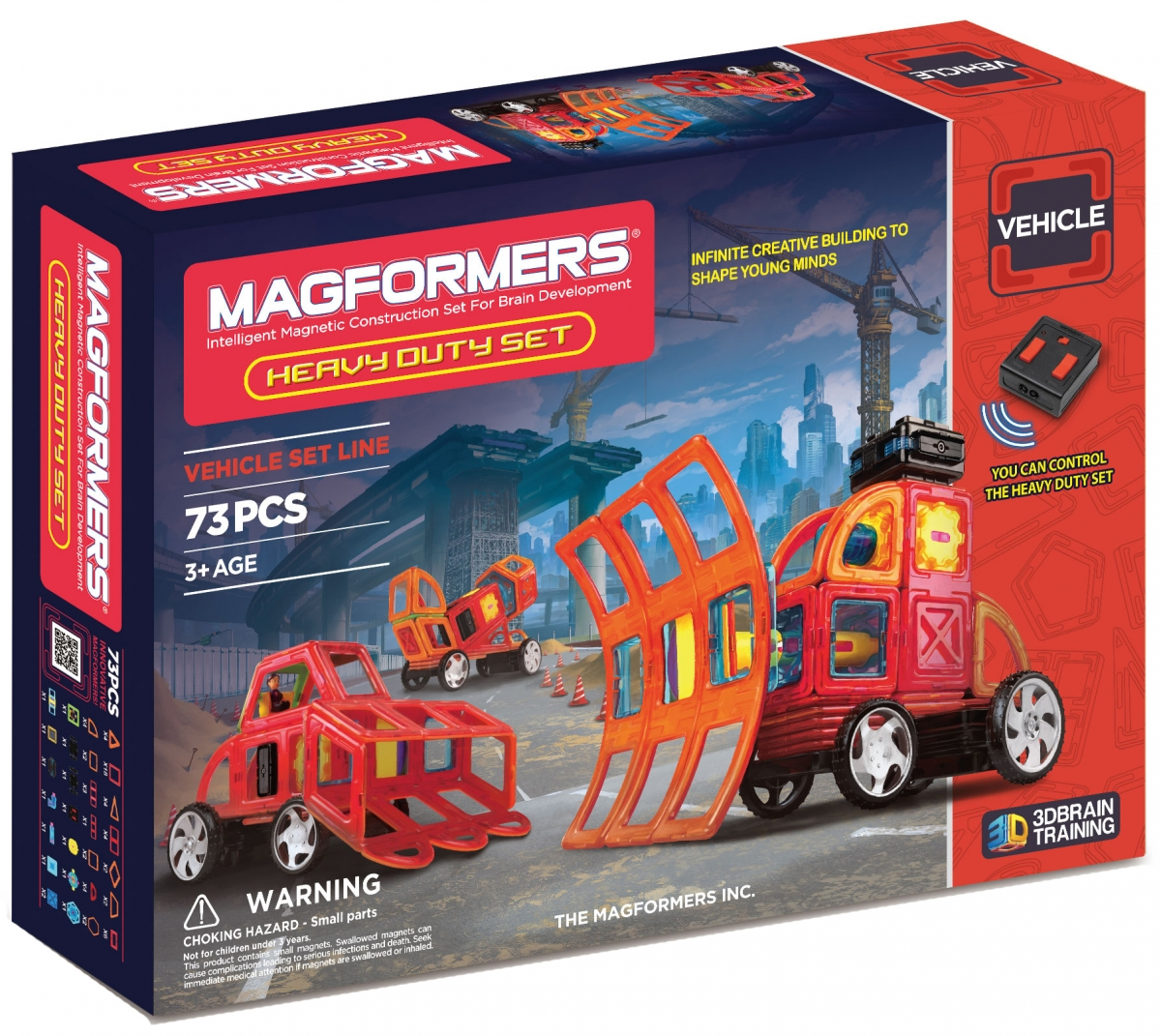 Конструктор Magformers 707007 (63139) Heavy Duty Set с пультом управления (73 детали)