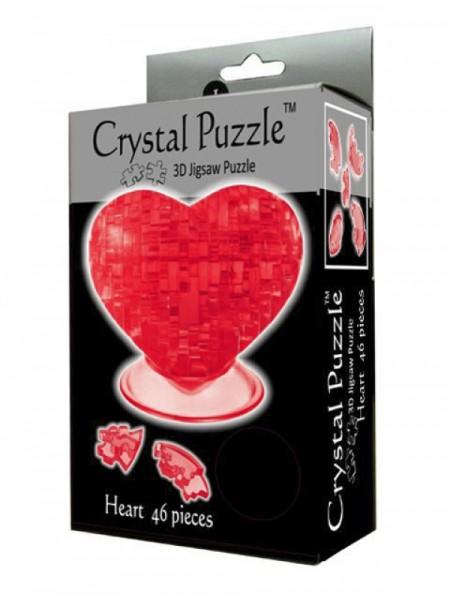 Головоломка Crystal puzzle Красное сердце