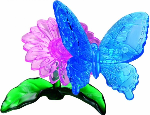 Головоломка Crystal puzzle Голубая бабочка