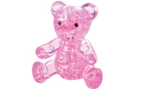 Головоломка Crystal puzzle Розовый мишка