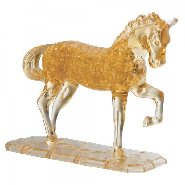 Купить Головоломка Crystal puzzle Золотая лошадь в интернет магазине игрушек и детских товаров