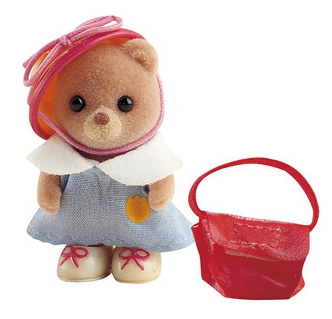 Игровой набор Sylvanian Families 3350 Младенец в пластиковом сундучке (медвежонок с сумочкой)