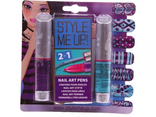Купить Набор для творчества Style Me Up Маникюр голубой и фиолетовый 2 в 1 в интернет магазине игрушек и детских товаров