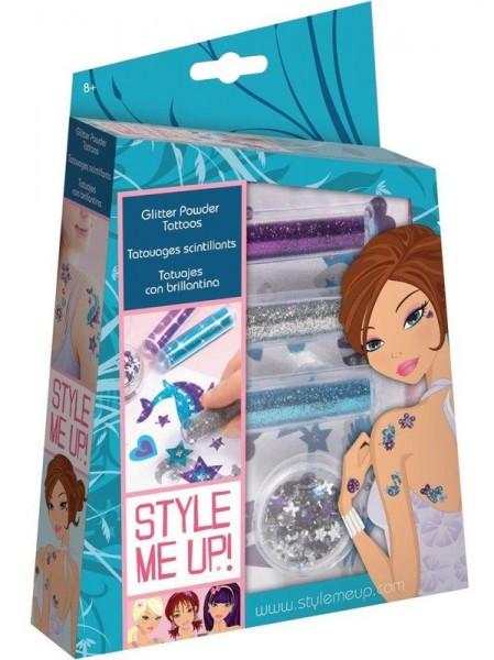 Купить Набор для творчества Style Me Up Сверкающие татуировки из пудры в интернет магазине игрушек и детских товаров