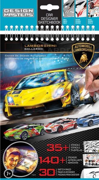 Блокнот с трафаретами Design Masters Lamborghini