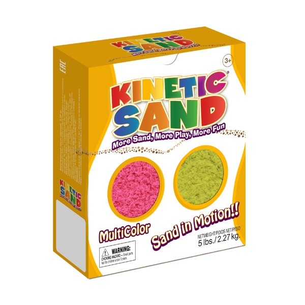 Песок Kinetic Sand Розовый-желтый - 2,27 кг (Waba Fun)