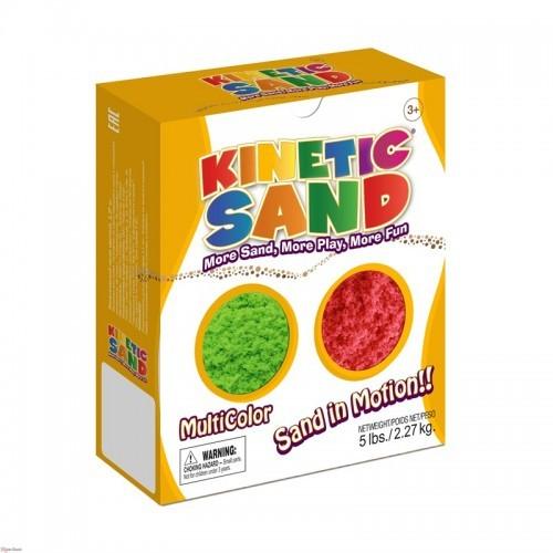 Песок Kinetic Sand Зеленый-красный - 2,27 кг (Waba Fun)