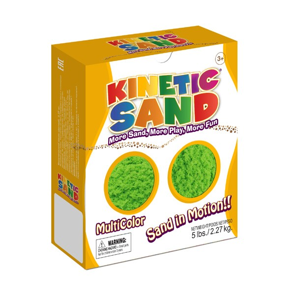 Песок Kinetic Sand Зеленый - 2,27 кг (Waba Fun)