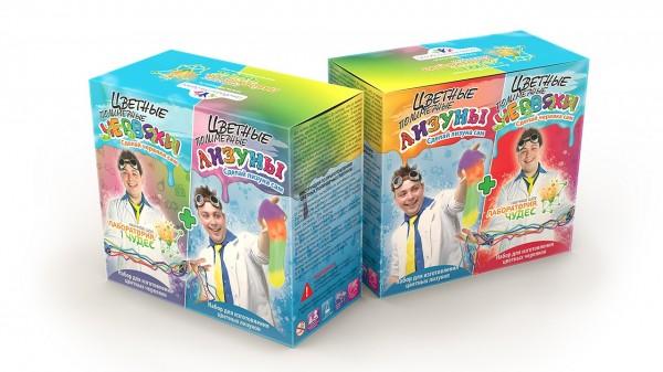 Набор для детей Инновации для детей 827 Цветные червяки и лизуны