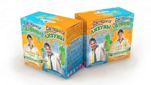 Набор для детей Инновации для детей 828 Светящиеся червяки и лизуны