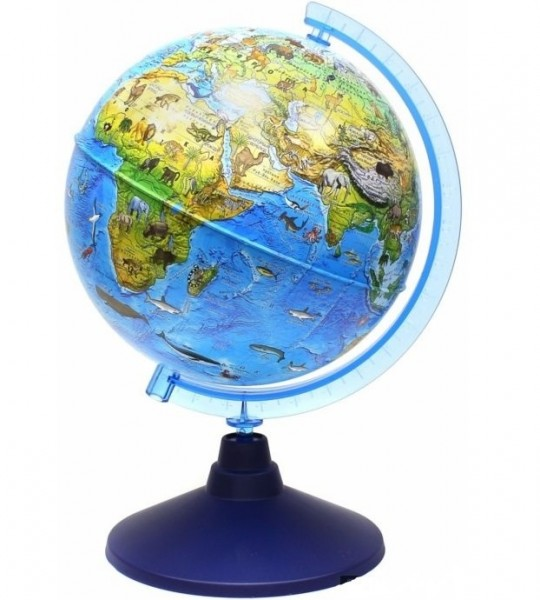 Купить Детский глобус Globen зоогеографический в интернет магазине игрушек и детских товаров
