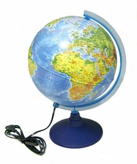 Глобус Земли Globen Ке012500191 физико-политический (с подсветкой)