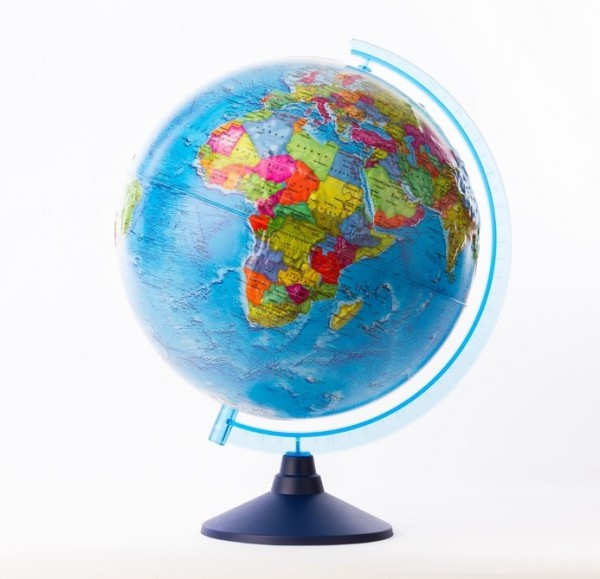 Глобус Земли GLOBEN политический рельефный