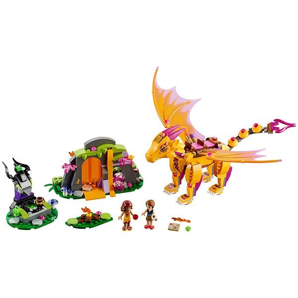 Купить Конструктор Lego Elves Лего Эльфы Лавовая пещера дракона огня в интернет магазине игрушек и детских товаров