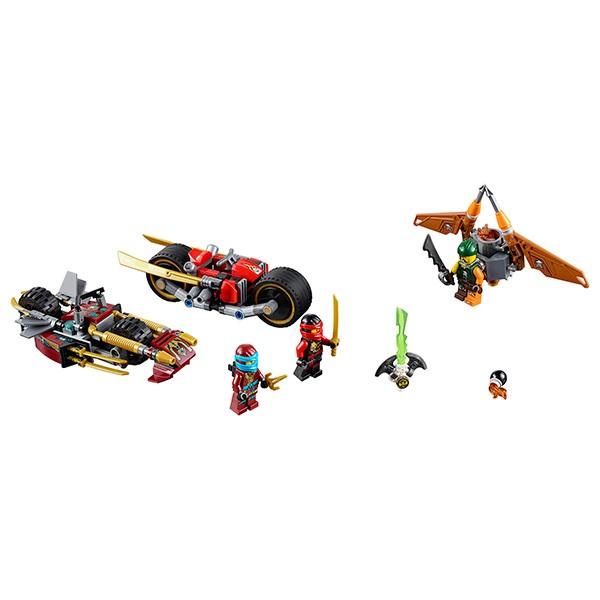 Конструктор Lego Ninjago Лего Ниндзяго Погоня на мотоциклах