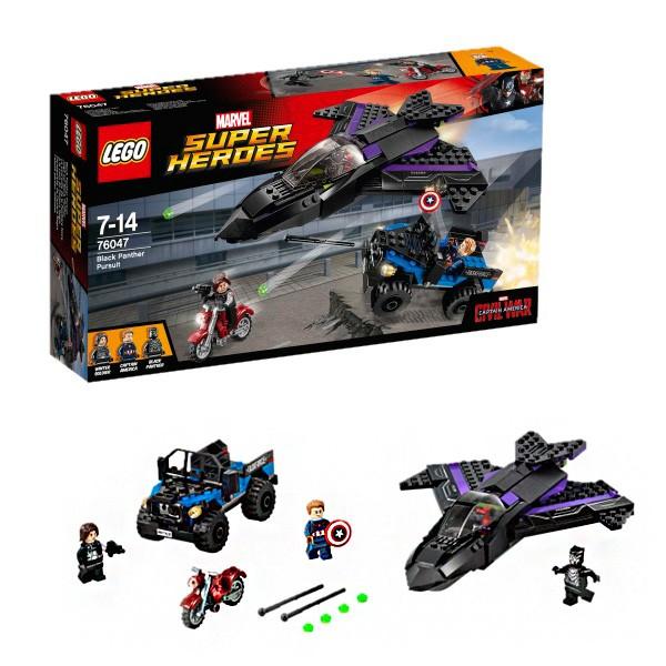 Конструктор Lego 76047 Super Heroes Супер Герои Преследование Черной Пантеры
