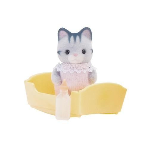 Купить Игровой набор Sylvanian Families Малыш Серый котенок в интернет магазине игрушек и детских товаров