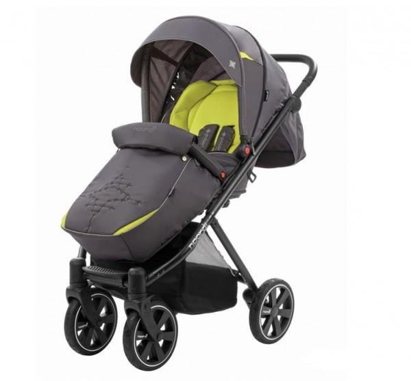 Купить Прогулочная коляска Noordi Polaris Sport (серо-желтая) в интернет магазине игрушек и детских товаров