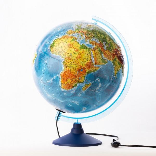 Глобус Земли Globen Ке013200233 физико-политический рельефный (с подсветкой)