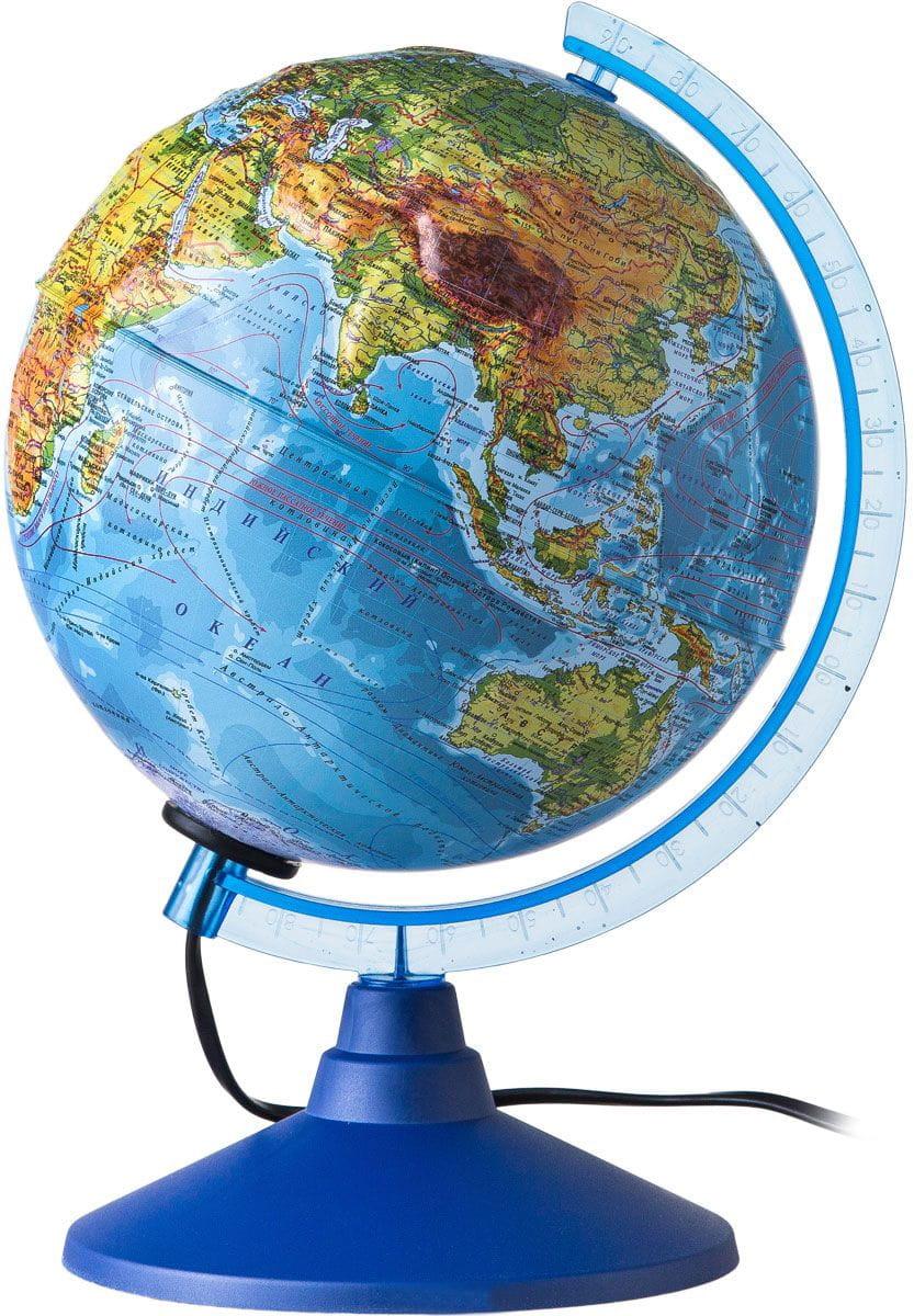 Глобус Земли GLOBEN физико-политический рельефный (с подсветкой)