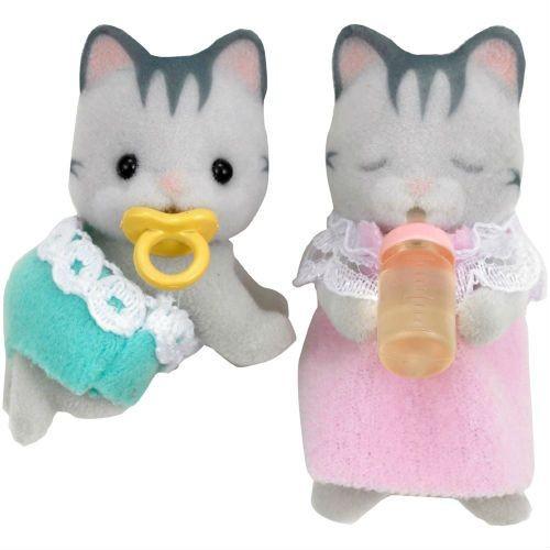 Купить Игровой набор Sylvanian Families Серые котята-двойняшки в интернет магазине игрушек и детских товаров