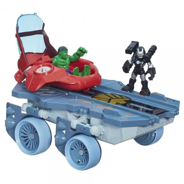 Купить Игровой набор Playskool Heroes Вертолетоносец-автомобиль (Hasbro) в интернет магазине игрушек и детских товаров