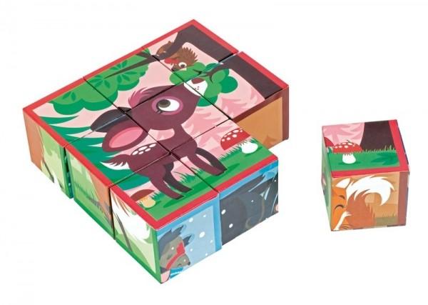 Купить Кубики Janod Лесные животные в интернет магазине игрушек и детских товаров