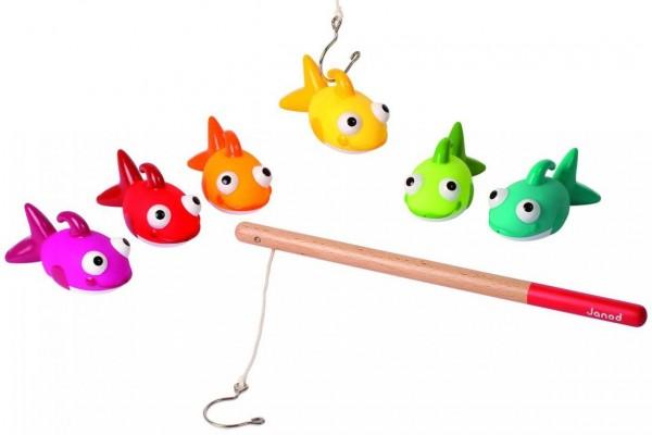 Купить Развивающая игра с удочкой Janod Поймай рыбку в интернет магазине игрушек и детских товаров