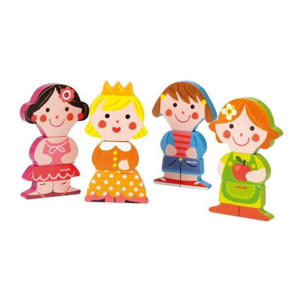 Купить Набор на магнитах Janod Забавные куклы в интернет магазине игрушек и детских товаров