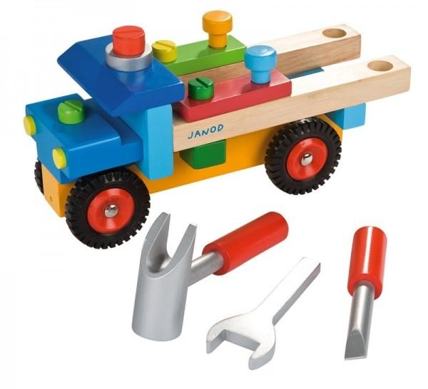 Купить Каталка конструктор Janod Грузовик сделай сам в интернет магазине игрушек и детских товаров