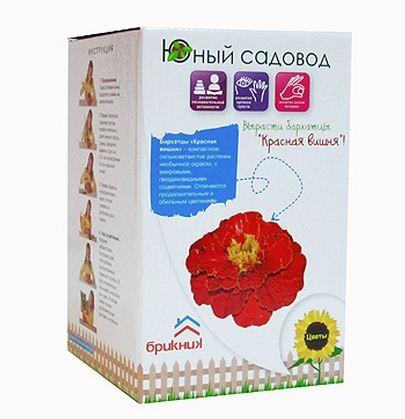 Купить Набор Юный садовод Красная вишня (цветы Бархатцы) в интернет магазине игрушек и детских товаров