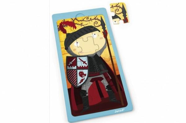 Купить Пазл для малышей Janod Король Артур - 12 детелей в интернет магазине игрушек и детских товаров