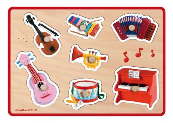 Купить Музыкальный пазл для малышей Janod Флейрус - музыкальные инструменты в интернет магазине игрушек и детских товаров