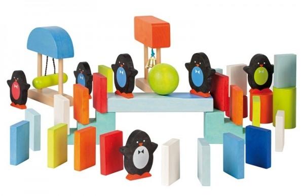 Купить Развивающий конструктор Janod Домино с пингвинчиками - 100 детелей в интернет магазине игрушек и детских товаров