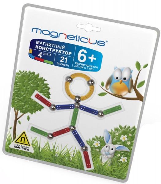 Купить Магнитный конструктор Magneticus Воздушный Человечек в интернет магазине игрушек и детских товаров