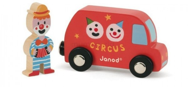 Игровой набор Janod Фургон Цирк с клоуном