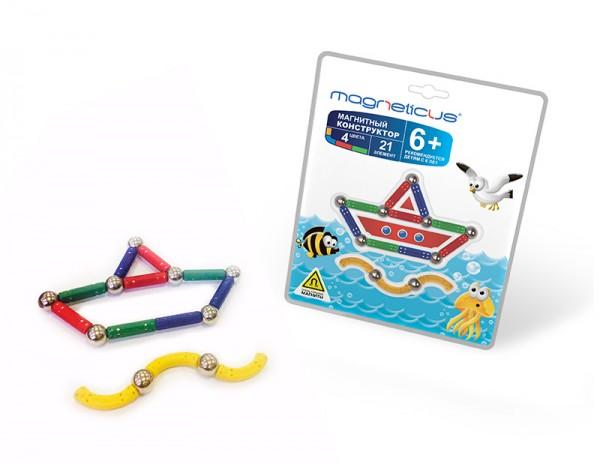 Купить Магнитный конструктор Magneticus Воздушный Кораблик в интернет магазине игрушек и детских товаров