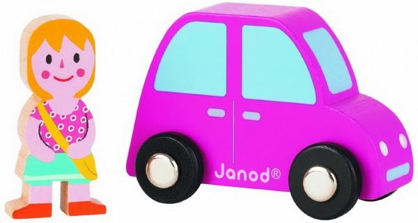 Игровой набор Janod Розовая машинка с девочкой