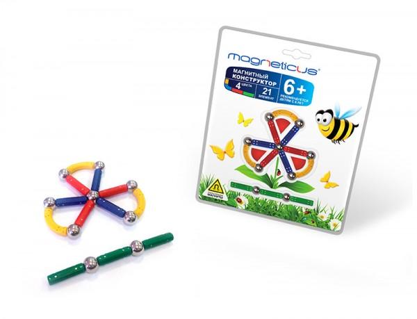Купить Магнитный конструктор Magneticus Воздушный Цветок в интернет магазине игрушек и детских товаров