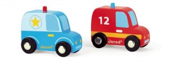 Игровой набор Janod Полиция и пожарная машины