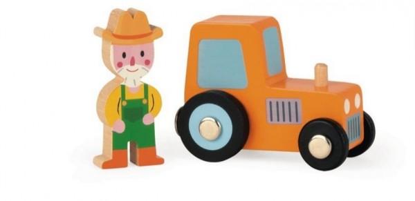 Игровой набор Janod Трактор и фермер