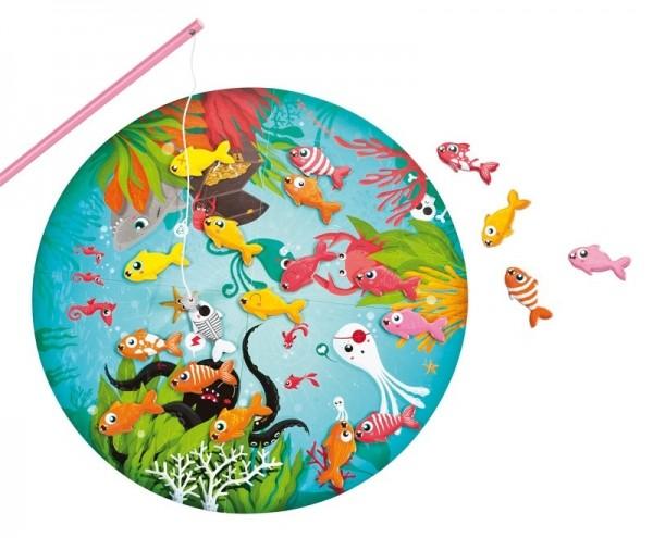 Купить Развивающая магнитная игра Janod Скоростная рыбалка в интернет магазине игрушек и детских товаров